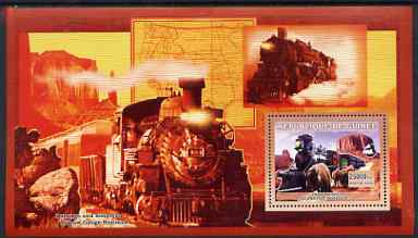 Guinea - Conakry 2006 Steam Trains - Modele No. 107 large perf s/sheet containing 1 value unmounted mint