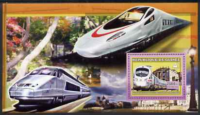 Guinea - Conakry 2006 High Speed Trains large perf s/sheet containing 1 value (German Ice Train) unmounted mint