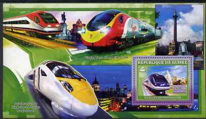 Guinea - Conakry 2006 High Speed Trains large perf s/sheet containing 1 value (Alaris) unmounted mint