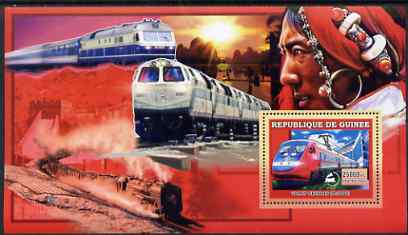 Guinea - Conakry 2006 Chinese Trains large perf s/sheet containing 1 value (X-2000) unmounted mint