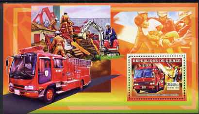 Guinea - Conakry 2006 Japanese Fire Engines large perf s/sheet containing 1 value (Tokyo) unmounted mint