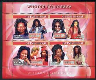 Guinea - Bissau 2007 Whoopi Goldberg perf sheetlet containing 4 values unmounted mint, Yv 2278-81