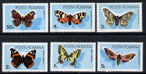 Rumania 1985 Butterflies set of 6 unmounted mint, Mi 4159-64