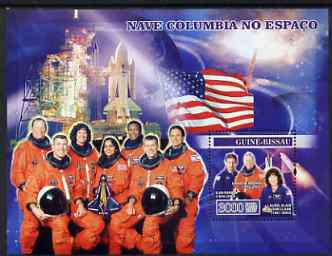 Guinea - Bissau 2007 Space Shuttle Columbia perf s/sheet containing 1 value unmounted mint, Yv 336