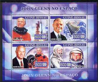 Guinea - Bissau 2007 John Glenn perf sheetlet containing 4 values unmounted mint, Yv 2290-93