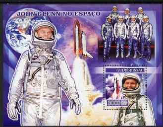 Guinea - Bissau 2007 John Glenn perf s/sheet containing 1 value unmounted mint, Yv 337