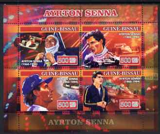 Guinea - Bissau 2007 Ayrton Senna perf sheetlet containing 4 values unmounted mint, Yv 2294-97