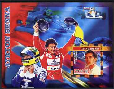 Guinea - Bissau 2007 Ayrton Senna perf s/sheet containing 1 value unmounted mint, Yv 338