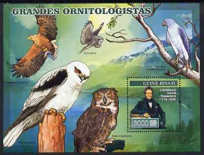 Guinea - Bissau 2007 Ornithologists perf s/sheet containing 1 value (Birds of Prey) unmounted mint, Yv 343