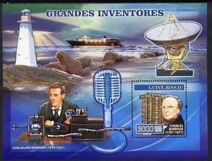Guinea - Bissau 2007 Inventors perf s/sheet containing 1 value unmounted mint, Yv 346