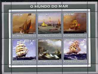 Mozambique 2002 Ships perf sheetlet containing 6 values unmounted mint Yv 2234-39