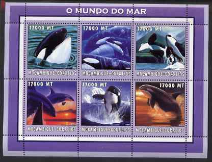 Mozambique 2002 Killer Whale perf sheetlet containing 6 values unmounted mint Yv 2132-37