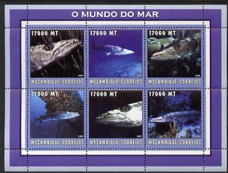 Mozambique 2002 Baracuda perf sheetlet containing 6 values unmounted mint Yv 2162-67