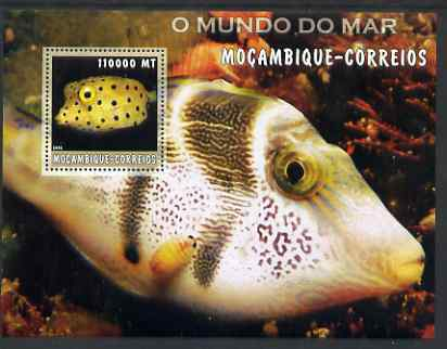 Mozambique 2002 Tropical Fish #2 perf s/sheet containing 1 value unmounted mint Yv 137