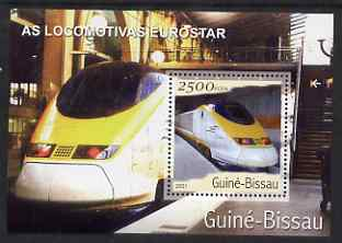 Guinea - Bissau 2001 Locomotives - Eurostar perf s/sheet containing 1 value unmounted mint Mi Bl 362