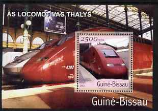 Guinea - Bissau 2001 Locomotives - Thailys perf s/sheet containing 1 value unmounted mint Mi Bl 364