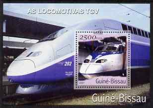 Guinea - Bissau 2001 Locomotives - TGV perf s/sheet containing 1 value unmounted mint Mi Bl 363