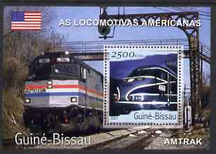 Guinea - Bissau 2001 Locomotives - Amtrak perf s/sheet containing 1 value unmounted mint Mi Bl 357