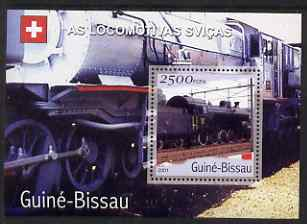 Guinea - Bissau 2001 Locomotives - Swiss perf s/sheet containing 1 value unmounted mint Mi Bl 359