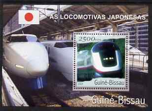 Guinea - Bissau 2001 Locomotives - Japanese perf s/sheet containing 1 value unmounted mint Mi Bl 361