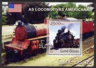 Guinea - Bissau 2001 Locomotives - American perf s/sheet containing 1 value unmounted mint Mi Bl 356