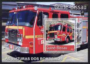 Guinea - Bissau 2001 Fire Engines perf s/sheet containing 1 value unmounted mint Mi Bl 353