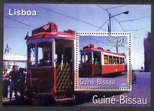 Guinea - Bissau 2001 Lisbon Tram perf s/sheet containing 1 value unmounted mint Mi Bl 365