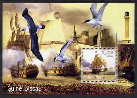 Guinea - Bissau 2001 Tall Ships large perf s/sheet containing 1 value unmounted mint Mi Bl 351