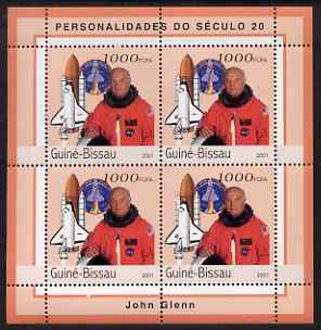 Guinea - Bissau 2001 John Glenn perf sheetlet containing 4 values unmounted mint Mi 1971