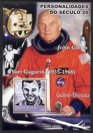 Guinea - Bissau 2001 John Glenn & Gagarin perf s/sheet containing 1 value unmounted mint Mi BL374