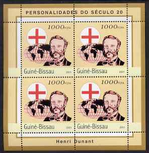 Guinea - Bissau 2001 Henri Dunant perf sheetlet containing 4 values unmounted mint Mi 1958