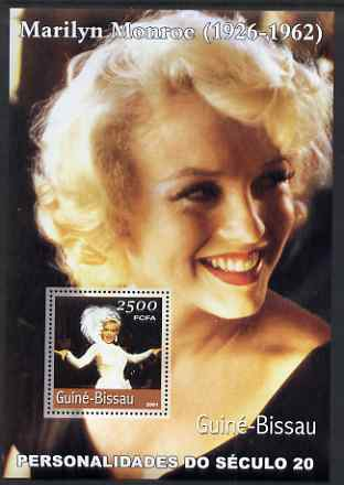 Guinea - Bissau 2001 Marilyn Monroe #1 perf s/sheet containing 1 value unmounted mint Mi BL368
