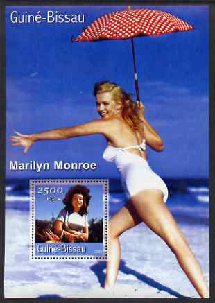 Guinea - Bissau 2001 Marilyn Monroe #2 perf s/sheet containing 1 value unmounted mint Mi BL369