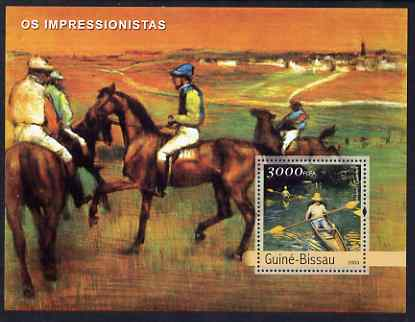 Guinea - Bissau 2003 Impressionist Paintings #1 perf s/sheet containing 1 value (Courbet) unmounted mint Mi BL413, stamps on arts, stamps on courbet, stamps on horses