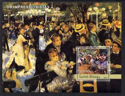 Guinea - Bissau 2003 Impressionist Paintings #2 perf s/sheet containing 1 value (Degas) unmounted mint Mi BL414