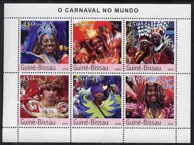 Guinea - Bissau 2003 Brazil Carnival perf sheetlet containing 6 values unmounted mint Mi 2363-68