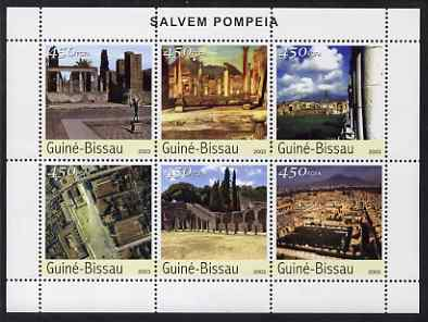 Guinea - Bissau 2003 Ruins of Pompeii perf sheetlet containing 6 values unmounted mint Mi 2375-80
