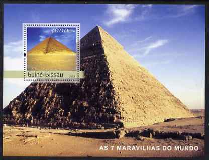 Guinea - Bissau 2003 Seven Wonders of the World perf s/sheet containing 1 value unmounted mint Mi BL419