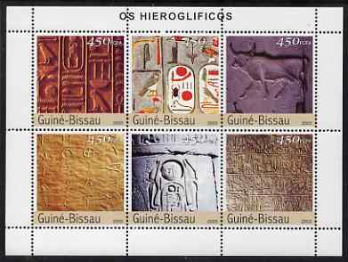 Guinea - Bissau 2003 Hieroglyphs perf sheetlet containing 6 values unmounted mint Mi 2339-44
