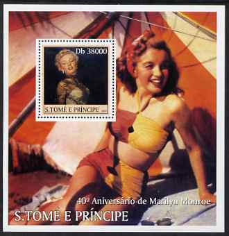 St Thomas & Prince Islands 2003 Marilyn Monroe perf s/sheet #2 containing 1 value unmounted mint Mi BL477