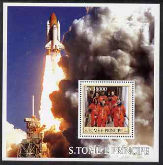 St Thomas & Prince Islands 2003 Space Shuttle Columbia perf s/sheet containing 1 value unmounted mint Mi BL479