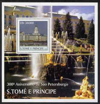 St Thomas & Prince Islands 2003 300th Anniversary of St Petersburg perf s/sheet #1 containing 1 value unmounted mint Mi BL481