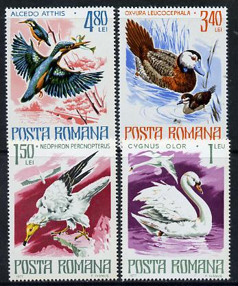 Rumania 1977 Birds - 4 values from Endangered Animals set unmounted mint, SG 4285-86 & 4288-89, Mi 3418-19 & 3421-22*