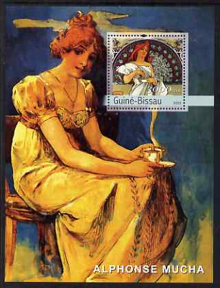 Guinea - Bissau 2003 Paintings by Mucha #1 perf s/sheet containing 1 value unmounted mint Mi BL437