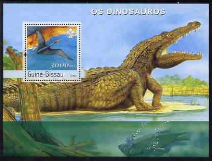 Guinea - Bissau 2003 Dinosaurs perf s/sheet containing 1 value with Scout Logo unmounted mint Mi BL431