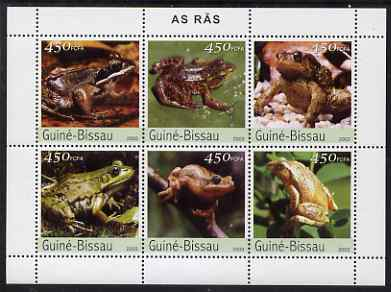 Guinea - Bissau 2003 Frogs perf sheetlet containing 6 values unmounted mint Mi 2458-63