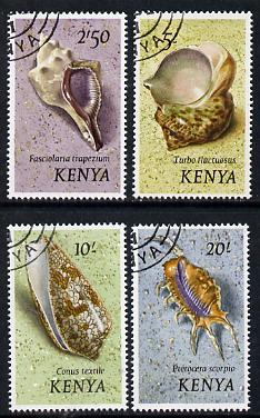 Kenya 1971 Shells 2s6d, 5s, 10s & 20s (top values) fine cto used SG 49-52*