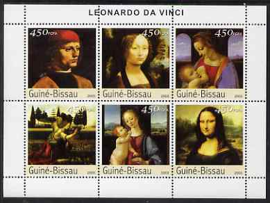 Guinea - Bissau 2003 Paintings by Leonardo Da Vinci perf sheetlet containing 6 values unmounted mint Mi 2531-36