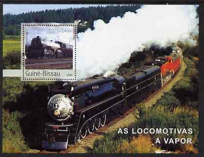 Guinea - Bissau 2003 Steam Engines perf s/sheet containing 1 value unmounted mint Mi BL433