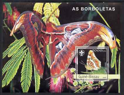 Guinea - Bissau 2003 Butterflies perf s/sheet containing 1 value with Scout Logo unmounted mint Mi BL429